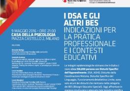 Save The Children e Ordine degli Psicologi della Lombardia: stasera a Milano si parla di BES e DSA