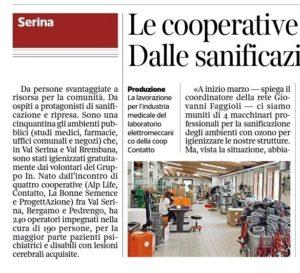 Corriere della Sera , Serina